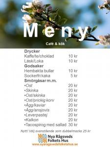 Meny Café & Kök försommar